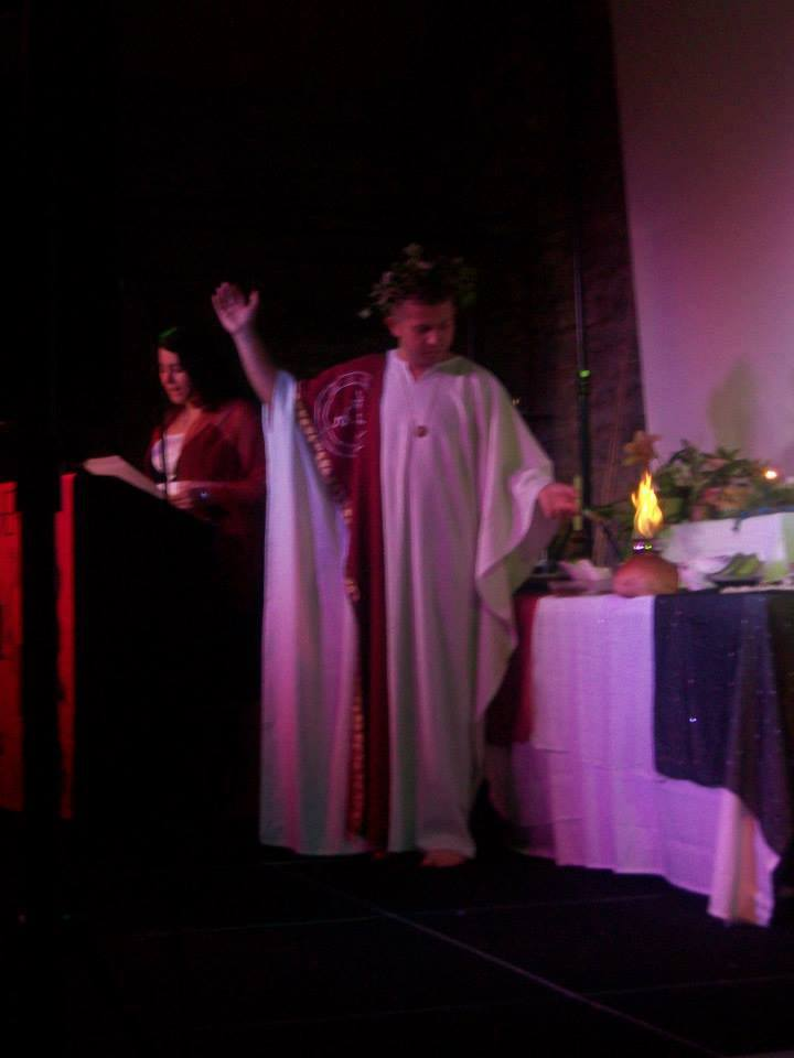 Author & Priest Georgi Mishev & Sorita d'Este (Opening Blessing, Hekate Symposium 2013)